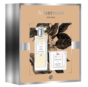 Allvernum – Zestaw prezentowy (woda perfumowana Coffee & Amber 50ml + świeca Forest Spa 100g (1 szt.)