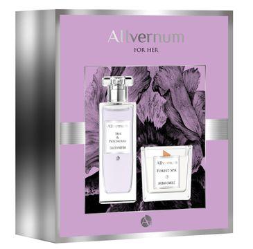 Allvernum – Zestaw prezentowy woda perfumowana Iris & Patchouli 50ml + świeca Forest Spa 100g (1 szt.)