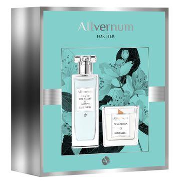 Allvernum – Zestaw prezentowy woda perfumowana Lilly&Jasmine 50ml + świeca Passiflora 100g (1 szt.)