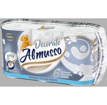 Almusso Decorato biały papier toaletowy (6 rolek)
