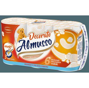 Almusso Decorato papier toaletowy pomarańczowy (6 rolek)