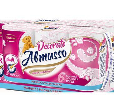 Almusso Decorato różowy papier toaletowy (6 rolek)