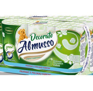 Almusso Decorato zielony papier toaletowy (6 szt.)