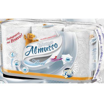 Almusso ręczniki papierowy Bravo biały (3 rolki)