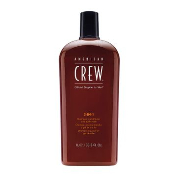 American Crew 3in1 Shampoo Conditioner And Body Wash szampon, odżywka i żel do kąpieli 1000ml