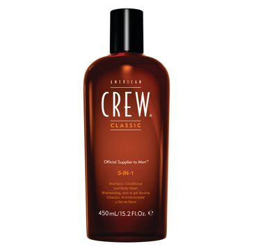 American Crew 3in1 Shampoo Conditioner And Body Wash szampon odżywka i żel do kąpieli 250ml