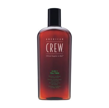 American Crew 3in1 Tea Tree Shampoo Conditioner And Body Wash szampon, odżywka i żel do kąpieli Drzewo Herbaciane 450ml