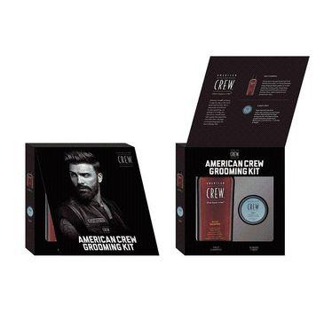 American Crew Grooming Kit zestaw Daily Shampoo szampon do włosów 250ml + Fiber włóknista pasta do włosów 85g