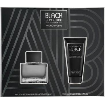 Antonio Banderas Black Seduction For Men zestaw woda toaletowa spray 50ml + balsam po goleniu 50ml