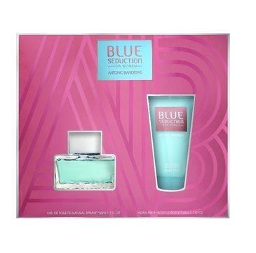 Antonio Banderas Blue Seduction For Woman zestaw prezentowy woda toaletowa spray 80 ml + dezodorant spray 150 ml