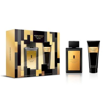 Antonio Banderas The Golden Secret zestaw woda toaletowa spray 100ml + balsam po goleniu 75ml (1 szt.)