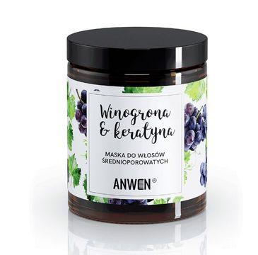 Anwen maska do włosów  średnioporowatych (winogrona i keratyna 180 ml)
