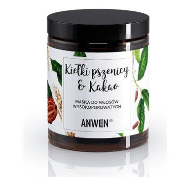 Anwen maska do włosów wysokoporowatych kiełki pszenicy i kakao (180 ml)