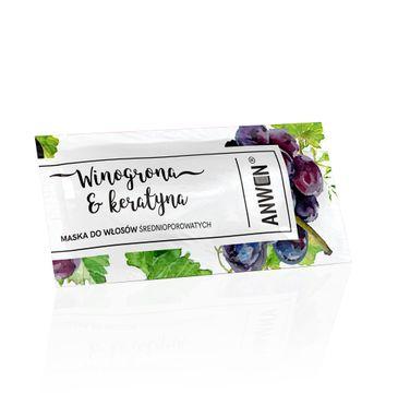 Anwen maska do włosów średnioporowatych (winogrona i keratyna saszetka 10 ml)
