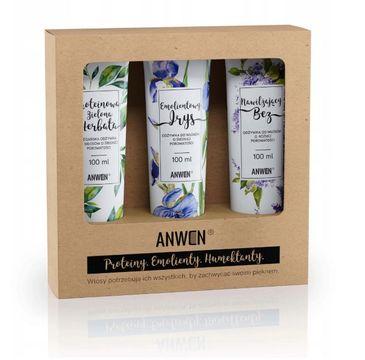 Anwen – zestaw wegańskich odżywek do włosów średnioporowatych (3 x 100 ml)