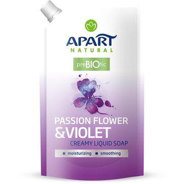 Apart Natural Prebiotic Refill kremowe mydło w płynie Passion Flower & Violet 400ml