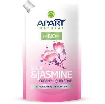 Apart Natural Prebiotic Refill kremowe mydło w płynie Silk & Jasmine 400ml