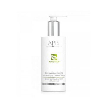 APIS Acne-Stop Cleansing Antibacterial Lotion oczyszczające mleczko antybakteryjne z zieloną herbatą (300 ml)