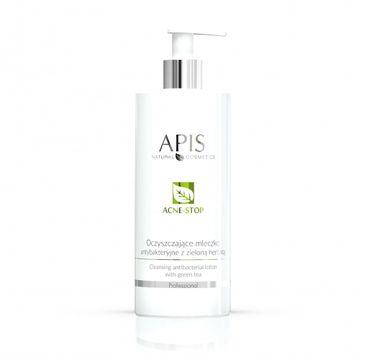 Apis  Acne-Stop Cleansing Antibacterial Lotion oczyszczające mleczko antybakteryjne z zieloną herbatą (500 ml)