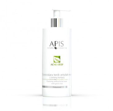 Apis – Acne-Stop Cleansing Antibacterial Toner oczyszczający tonik antybakteryjny z zieloną herbatą (500 ml)