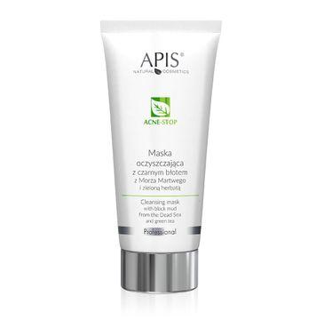 APIS Acne-Stop Cleansing Mask maska oczyszczająca z czarnym błotem z Morza Martwego i zieloną herbatą (200 ml)