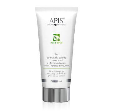 APIS Acne-Stop Face Massage Gel żel do masażu twarzy z minerałami z Morza Martwego zieloną herbatą i bambusem (200 ml)