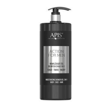 Apis Action For Men nawilżający żel do mycia ciała 3w1 (1000 ml)