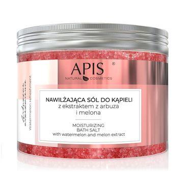 Apis Arbuzowe Orzeźwienie nawilżająca sól do kąpieli z ekstraktem z arbuza i melona (650 g)