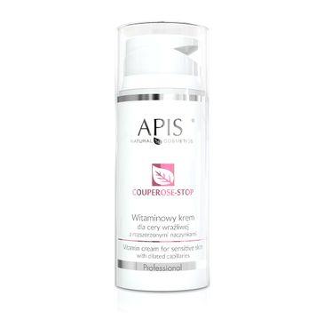 Apis Couperose-Stop Vitamin Cream witaminowy krem dla cery wrażliwej z rozszerzonymi naczynkami (100 ml)