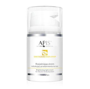 Apis Discolouration-Stop Brightening Night Cream rozjaśniający krem redukujący przebarwienia na noc (50 ml)