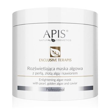 Apis Exclusive Terapis rozświetlająca maska algowa z perłą złotą algą i kawiorem (250 g)
