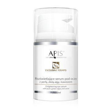 Apis Exclusive Terapis rozświetlające serum pod oczy z perłą złotą algą i kawiorem (50 ml)