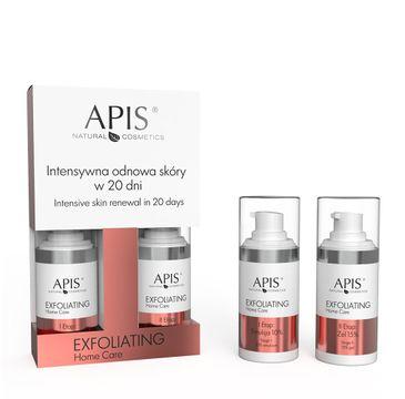 Apis Exfoliating Home Care intensywna odnowa skóry w 20 dni zestaw emulsja 10% (15 ml) + żel 15% (15 ml)