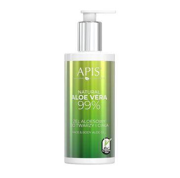 APIS Natural Aloe Vera 99% żel aloesowy do twarzy i ciała (300 ml)