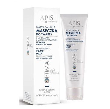 Apis Optima Moisturizing Face Mask maseczka nawilżająca do twarzy z minerałami z Morza Martwego i kwasem hialuronowym (100 ml)