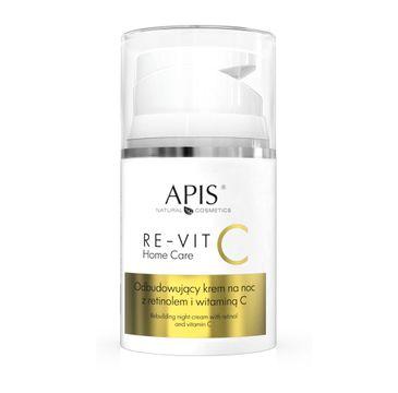 APIS Re-Vit C Home Care odbudowujący krem na noc z retinolem i witaminą C (50 ml)