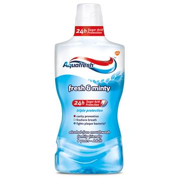 Aquafresh Fresh and Minty Mouthwash płyn do płukania jamy ustnej (500 ml)