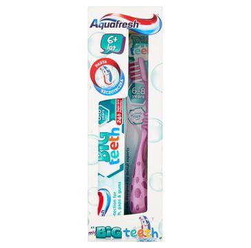 Aquafresh my Big Teeth zestaw pasta do zębów 50ml + szczoteczka do zębów 6+ lat