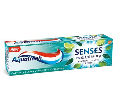 Aquafresh Senses Energising Pasta do zębów energizująca - Eucalyptus Limonka&Mięta (75 ml)