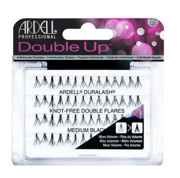Ardell Double Up - sztuczne rzęsy w kępkach bez węzełków Medium Black (56 szt.)