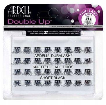 Ardell Double Up zestaw 96 kępek rzęs (trio lash) Short Black