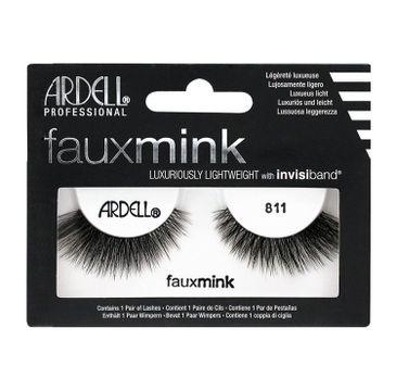 Ardell Faux Mink - sztuczne rzęsy na pasku 811 (1 op.)