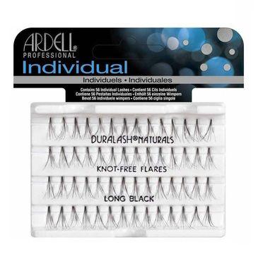 Ardell Individual - sztuczne rzęsy w kępkach bez węzełków Long Black (56 szt.)