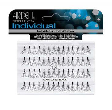 Ardell Individual - sztuczne rzęsy w kępkach z węzełkami Long Black (56 szt.)