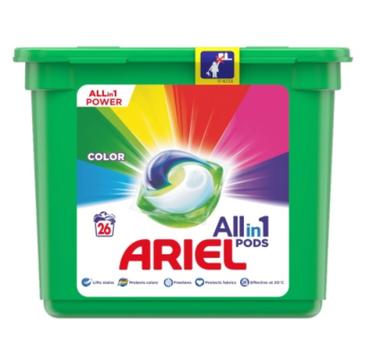 Ariel kapsułki do prania All in1 Pods Colour do tkanin kolorowych(26 szt.)