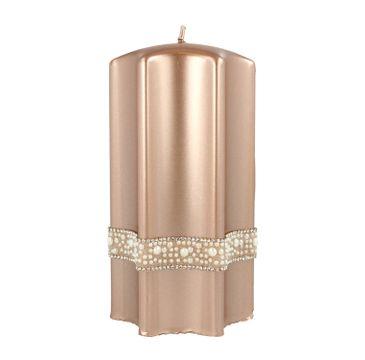 Artman – Boże Narodzenie Świeca ozdobna Crystal Pearl rose gold - gwiazda duża (1 szt.)