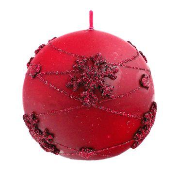 Artman – Boże Narodzenie Świeca ozdobna Snowflakes czerwona - kula mała (1 szt.)