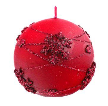 Artman – Boże Narodzenie Świeca ozdobna Snowflakes czerwona - kula średnia (1 szt.)