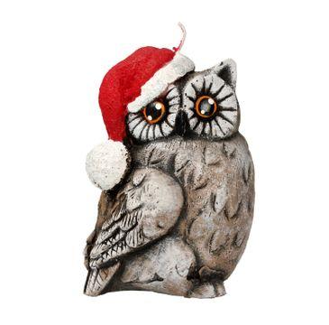 Artman – Boże Narodzenie Świeca ozdobna Sowa Świąteczna brązowa - zwrócona w prawo (1 szt.)