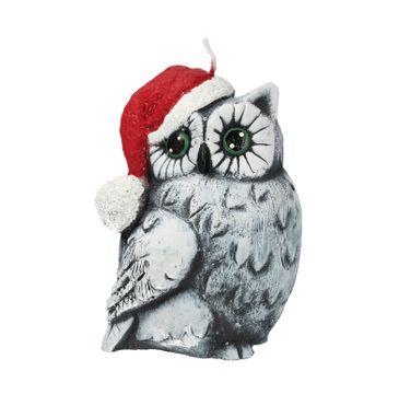 Artman – Boże Narodzenie Świeca ozdobna Sowa Świąteczna szara - prawa (1 szt.)